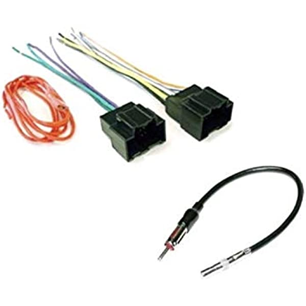 amazon.com: asc audio car stereo radio wire harness plug and antenna adapter  for some buick chevrolet gmc pontiac saturn vehicles - compatible vehicles  listed below: car electronics  amazon.com
