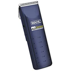 Wahl Pro Series Rechargeable Cordless or Corded Low Noise/Quiet Pet Clipper Grooming Kit for cutting dog or cat hair or fur by The Brand Used By Professionals. #9590-210