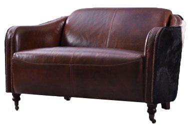 Clubsofa Dallas 2-Sitzer Vintage-Leder Kuhfell