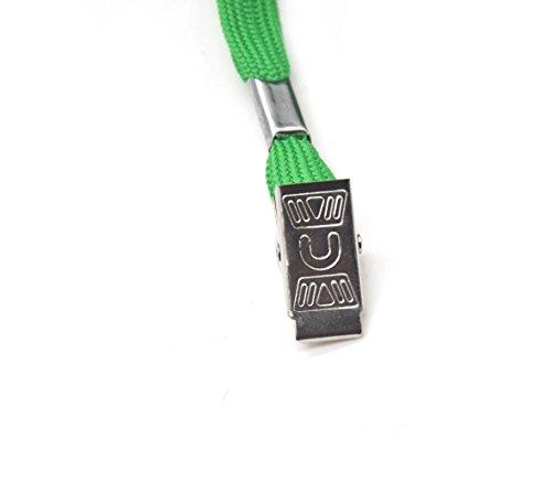 SzJias GREEN Lanyards 50PCS 33-Inch Cotton Flat Lanyard Badge Clip (Cotton Green) Photo #3