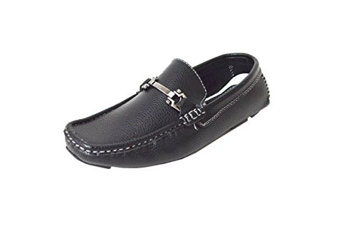 Brixton Men's Casual Buckle Loafer Shoes (JF-Payne) Black 10.5