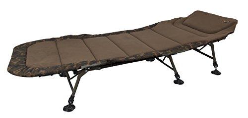 Fox R1 Camo Compact Bedchair 205x85cm Karpfenliege, Angelliege zum Karpfenangeln, Liege zum Nachtangeln