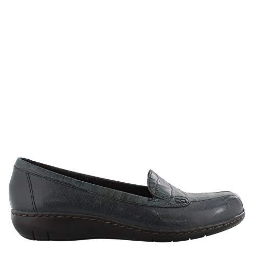 CLARKS Women's, Ashland Bayou Q Slip on Shoes Navy 7 W
