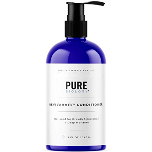 Pure Biology RevivaHair Conditioner with Procapil For Growth Stimulation & Deep Moisture, 8fl - Jojoba Treatment Shampoo