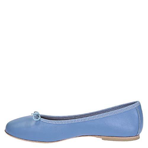 En Clair Ballerines Cuir Nappa Leonardo Bleu Chaussures ERWq0pSB