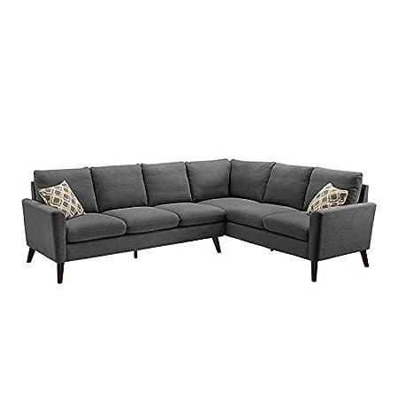 Amazon.com: Bliss Brands - Sofá de lino, diseño moderno en ...