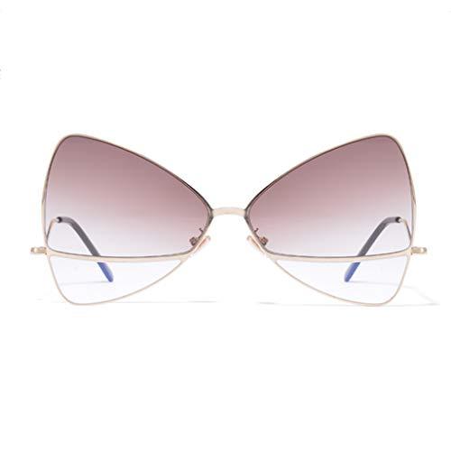 Couleur Personality de C Korean Big Femme lunettes soleil Street légères Soleil C Light de Des Box Lunettes Sport Ladies Shooting COTUx