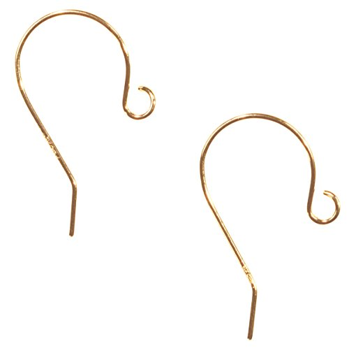 uGems 14k Solid Yellow Gold Earwire 11/16 Inch .021