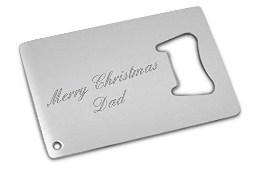 merry christmas dad bottle opener