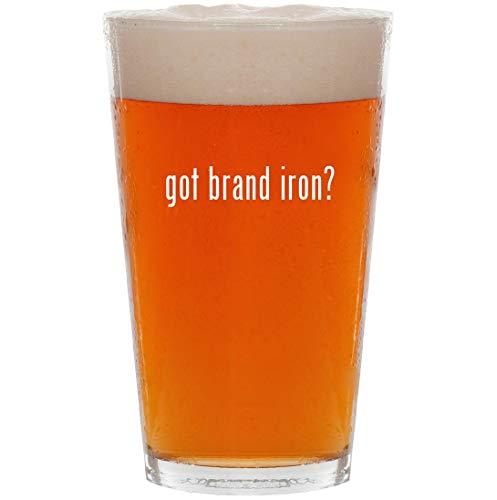 got brand iron? - 16oz All Purpose Pint Beer Glass - State Branding Steak Iron