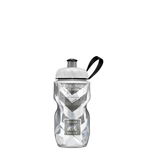 Polar Bottle Insulated Water Bottle, Black Chevron, 12 -