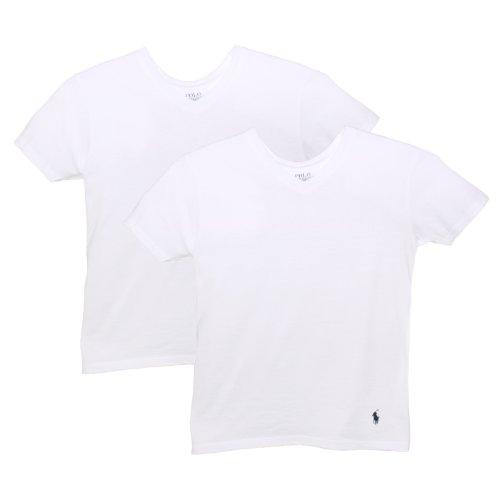 Polo Ralph Lauren Kids/Boys 2 Pack V-neck Undershirt L White (Ralph Lauren Junior)