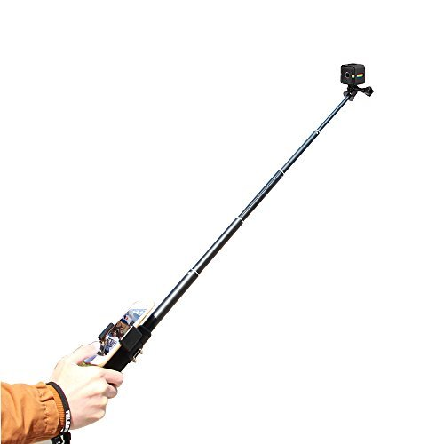 TELESIN 7 in 1 Selfie Stick Aluminum Alloy Adjustable Handheld Monopod Camera Extender Pole with Tripod Adapter and Frame Housing For Polaroid Cube/Cube+