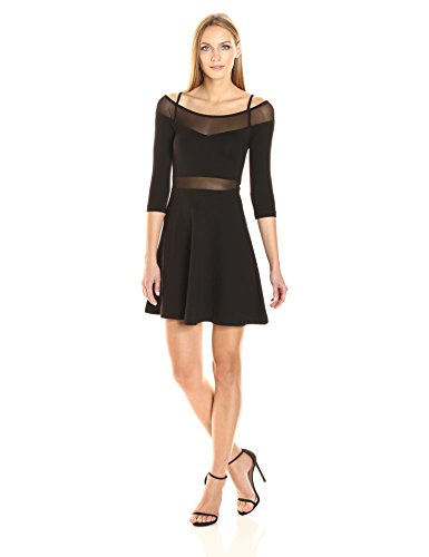 Dress Tatlin Women's French Beau Connection and Black Jersey Flare Fit qRwF85wxE