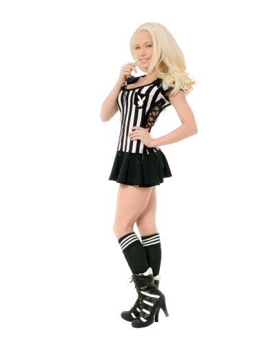 Referee Costume Halloween Express (Racy Referee Adult Costume - Large)