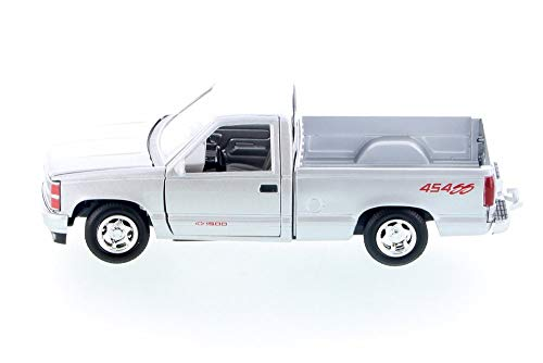 - Showcasts 1992 Chevy 454 SS Pickup, Silver 73203AC/SV - 1/24 Scale Diecast Model Toy Car