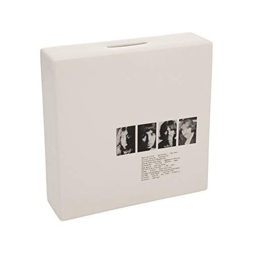 Vandor The Beatles Limited Edition White Album Ceramic Coin Bank, 6 x 6 x 1.75 inches (72050)]()