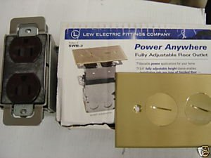Swb-2 LEW Electric Complete Floor Box / Brass Cover Plate