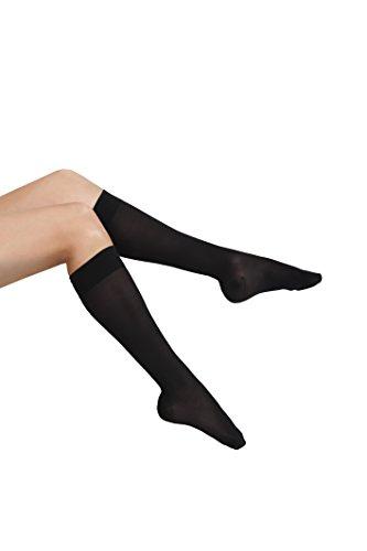 GABRIALLA Sheer Knee Highs, Compression Stockings (23-30 mmHg) Black, XXLarge