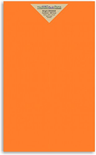 Pumpkin Patterns Printable (50 Bright Orange Cover/Card Paper Sheets - 8.5 X 14 Inches Legal or Menu Size - 65# (65 lb/pound) Light Weight Cardstock - Quality Printable Smooth Paper Surface for Bright Colorful Results)