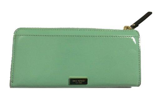 Kate-Spade-Chelsea-Park-Nisha-Coastline-Green-Patent-Leather-Zip-Around-Wallet