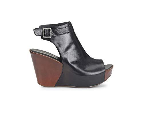 Women's Grain Sattle Combo Avana Berit Nero sandals M 7 Ease Black Full Kork 45wv7v