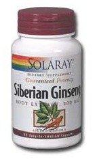Solaray Eleuthero Extract, 200 mg, 60 Count