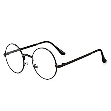 25e67c9ed05b Image Unavailable. Image not available for. Color  Small round glasses frame  and round flat mirror Korean retro metal flat mirror frame myopia