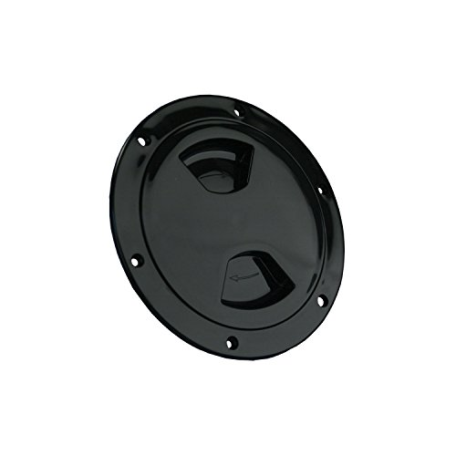 "JR Products 31015 Access/Deck Plate - 4"", Black"