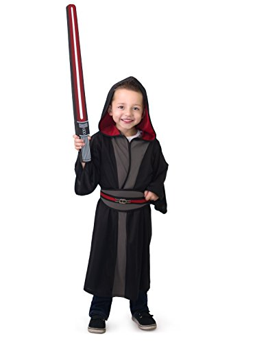 Little Adventures Galactic Star Villain Hood and Cloak Wars Costume for Boys - Small (1-3 Yrs) - Lord Sith Costume