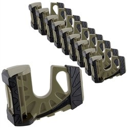10-Pack Wedge-It Ultimate Door Stop - OD Green by Wedge-It