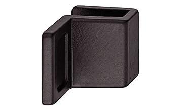 2 St/ück Gedotec Glast/ürgriff Schrank M/öbelgriffe f/ür Glast/üren M/öbelbeschl/äge f/ür Schrankt/üren /& Glast/üren Zinkdruckguss schwarz matt T/ürgriff zum Klemmen Glasdicke 4-6 mm