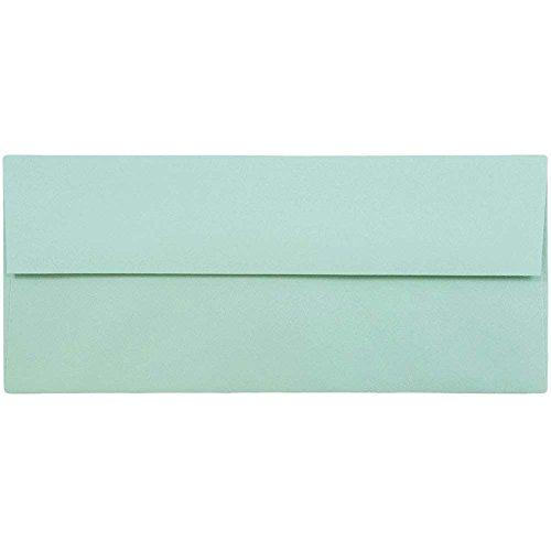 JAM PAPER #10 Business Premium Envelopes - 4 1/8 x 9 1/2 - Aqua Blue - 50/Pack ()
