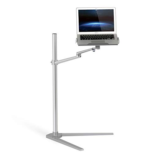 MagicHold 360º Rotating Height Adjustable Laptop Floor/bedside Stand for 10-17 Inch Laptop/tablet/compatible with IPAD/IPAD Pro
