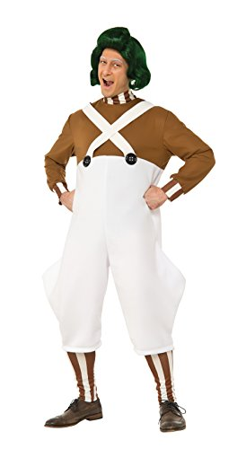 Rubie's Men's Willy Wonka and The Chocolate Factory Deluxe Oompa Loompa Costume, Multi, (Oompa Loompa Willy Wonka Costume)