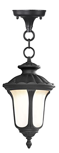 Livex Lighting 7668-04 Oxford 1 Light Outdoor Chain Hang, Black