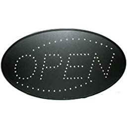 Open LED Sign With Animation and Power (On & off) two Switchs for Business (Red & Blue)