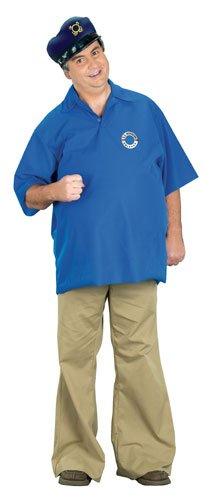 Gilligan's Island Gilligan Adult Costumes (FunWorld Skipper Costume, Blue, One size)