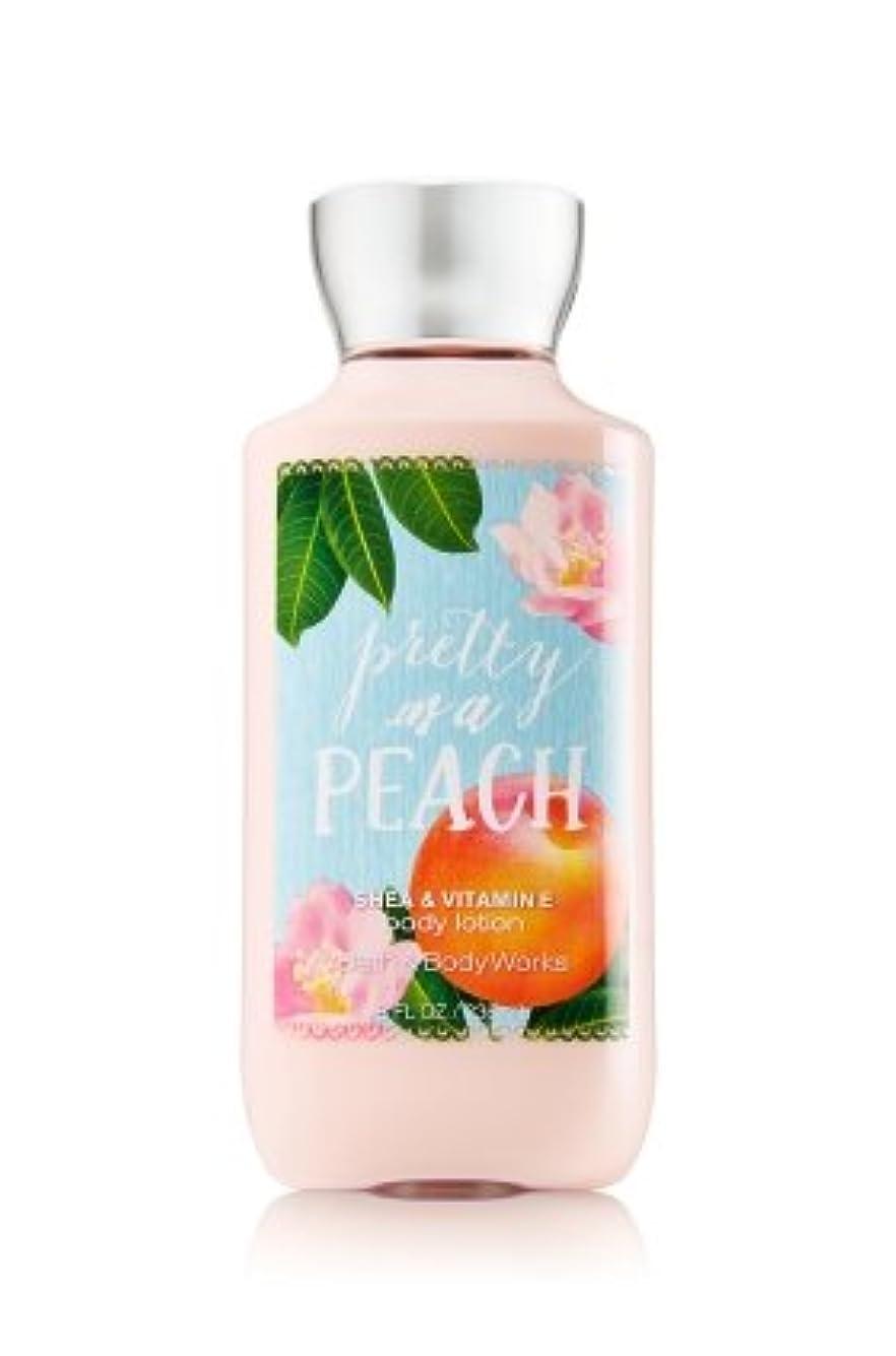 コーン開拓者些細【Bath&Body Works/バス&ボディワークス】 ボディローション プリティーアズアピーチ Body Lotion Pretty As A Peach 8 fl oz / 236 mL [並行輸入品]