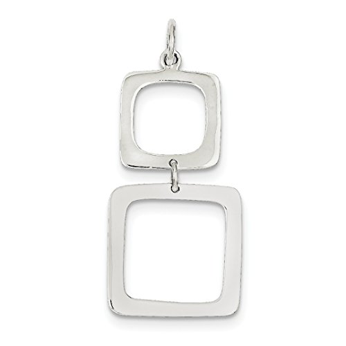 ICE CARATS 925 Sterling Silver Graduated Squares Dangle Pendant Charm Necklace Special Day Geometric Fine Jewelry Ideal Gifts For Women Gift Set From ()