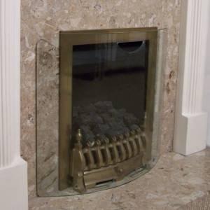new curved clear glass fire guard glass firescreen amazon co uk rh amazon co uk
