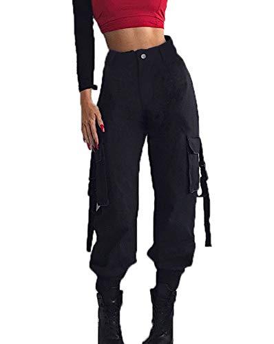 Donna Trousers Con Lavoro Leggings Alpinismo Cargo Moda Da Pantaloni All'aperto Nero Piccoli Casual Tasche Trekking Piedi Pants Lungo Pantalone qEqnPRrw8