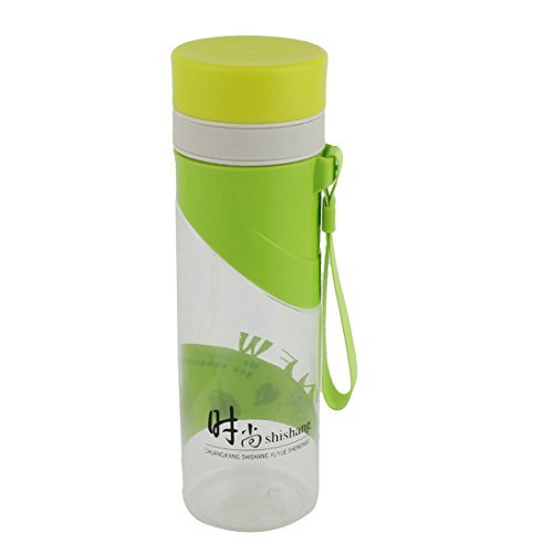 DealMux Plastic Viagem Camping Handheld Tea Garrafa de água bebendo suco Cup 500ml Verde