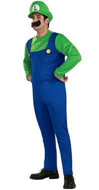 Super Mario Brothers Luigi Costume Medium, -