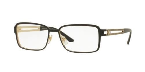 versace ve1236 eyeglass frames 1377 55 matte blackpale gold