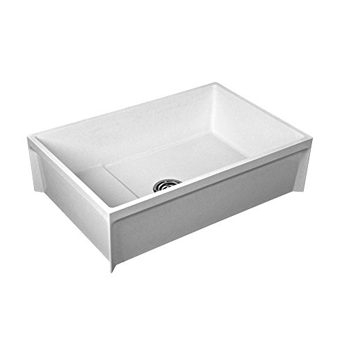 FIAT PRODUCTS MSB3624100 Molded Stone Mop Basin (1 - Mop Floor Sink Mount