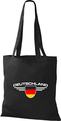Negro Tela Land Alemania Escudo De Bolsa Países Shirtstown 0q6UHH