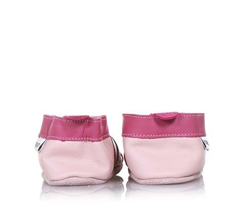 Bobux Rosa Hausschuh Aus natürlichem und Atmungsaktivem Leder, Baby Mädchen