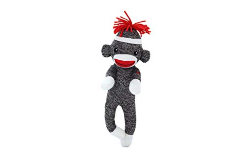 Plushland Adorable Sock Monkey 8 Inches Tall - Soft Realistic Plush Knitted Stuffed Animal Toy Gift - for Kids, Babies, Teens, Girls and Boys (Brown)]()