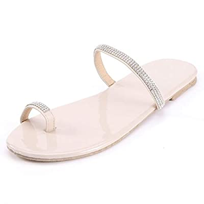 Sandals for Women Wide Width, Women's 2020 Comfy Platform Sandal Shoes Summer Beach Travel Fashion Slipper Flip Flops at  Women's Clothing store